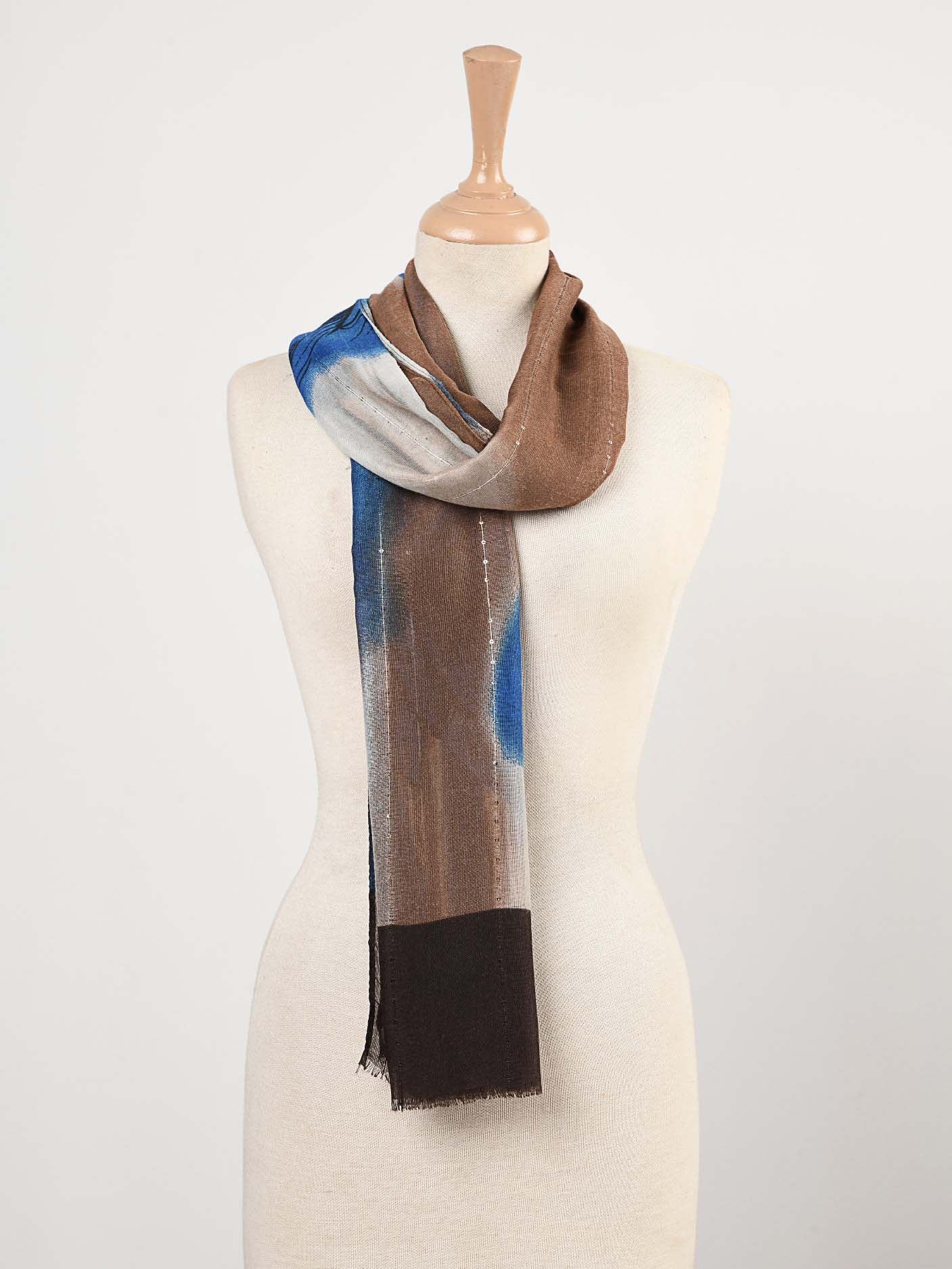 Printed Sequin Scarf