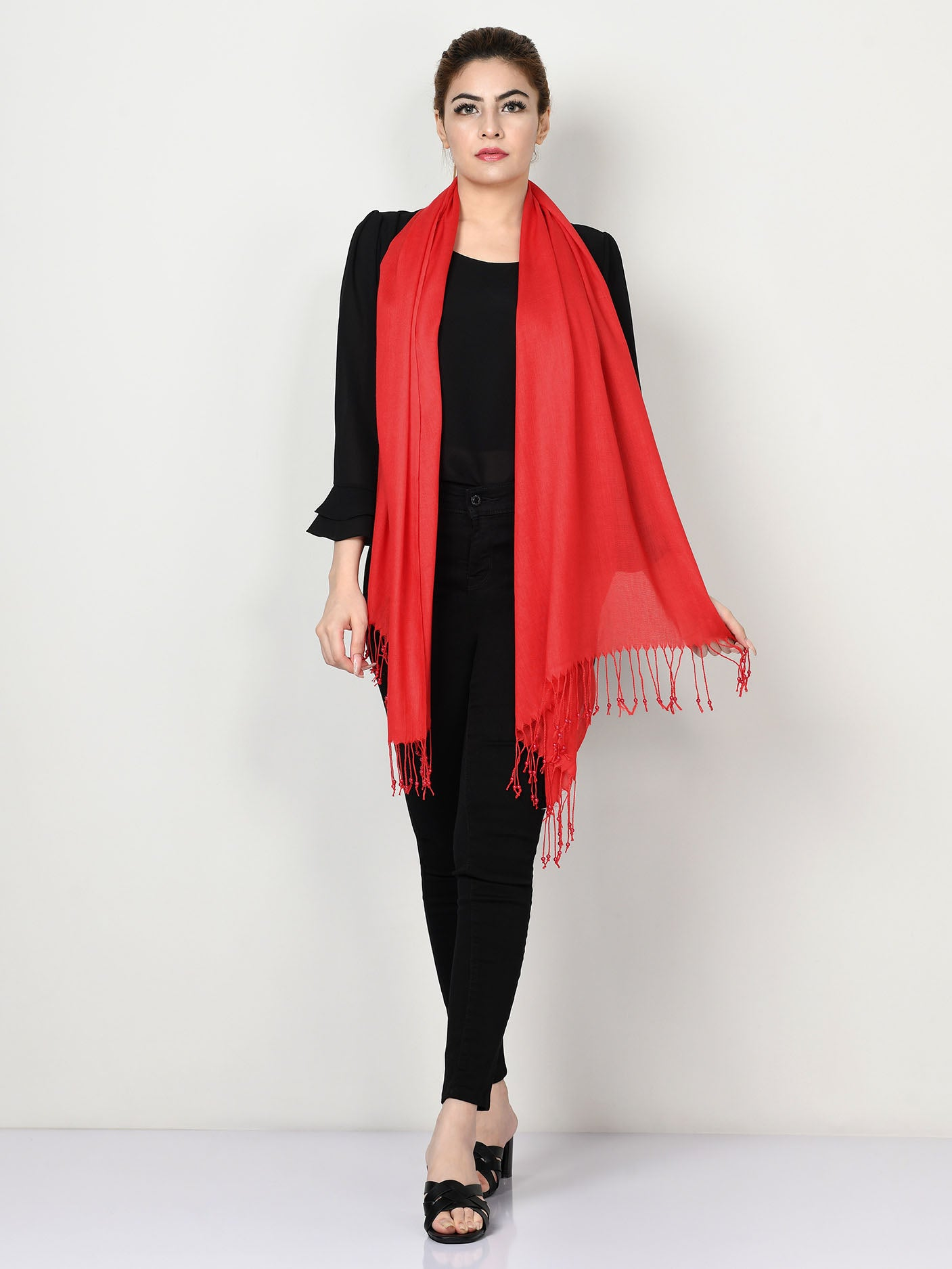 Tassel Finish Scarf