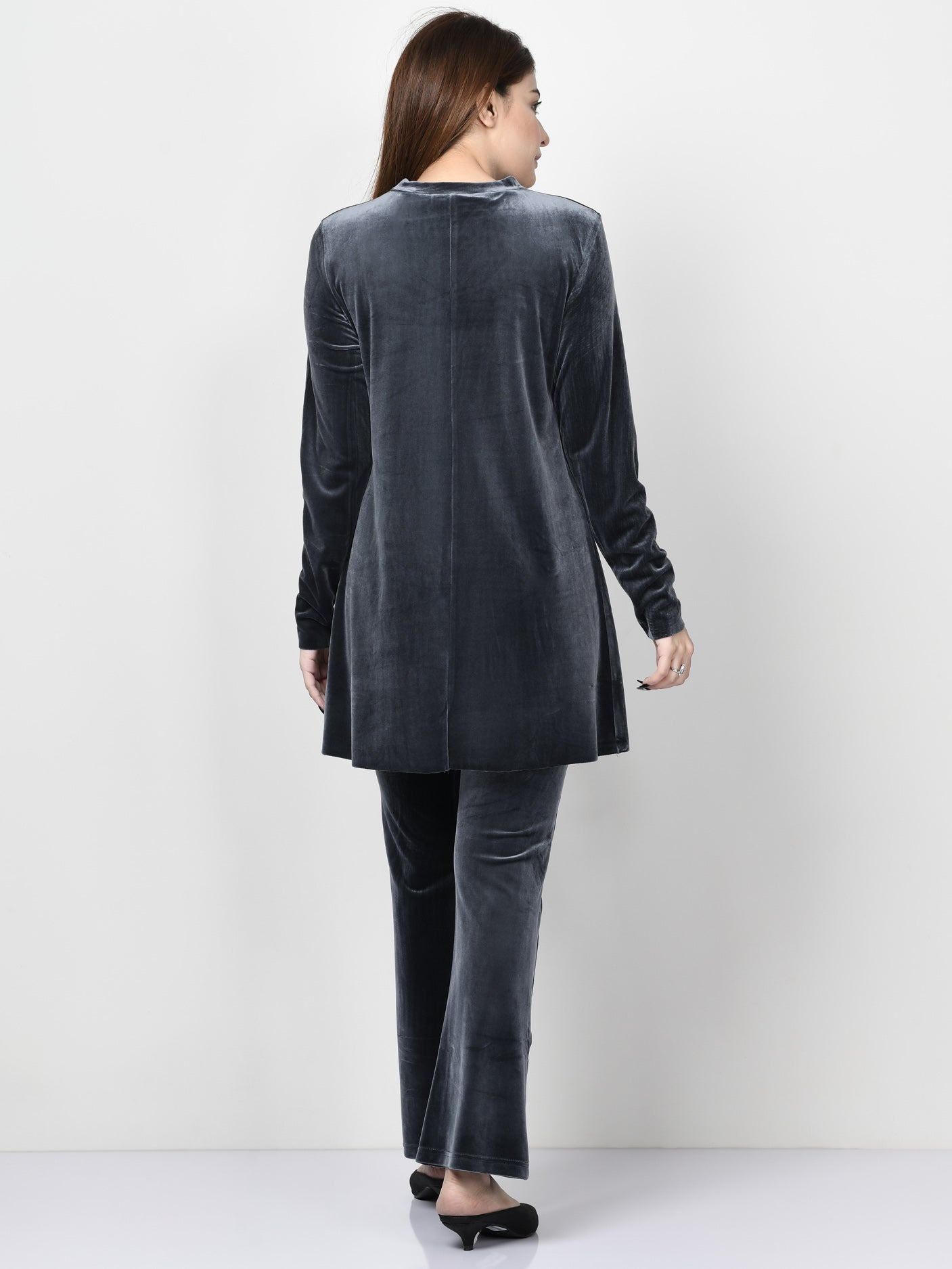Velvet Shirt - Dark Grey