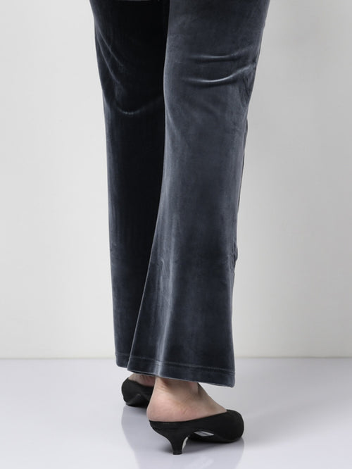 Velvet Trouser - Dark Grey