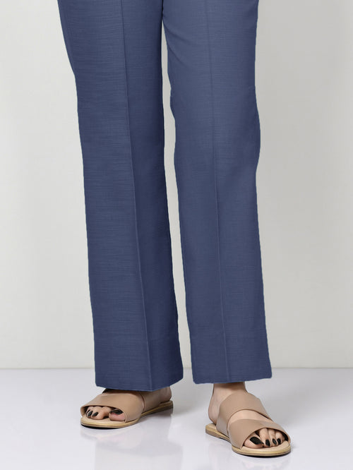 Unstitched Khaddar Trouser - Blue