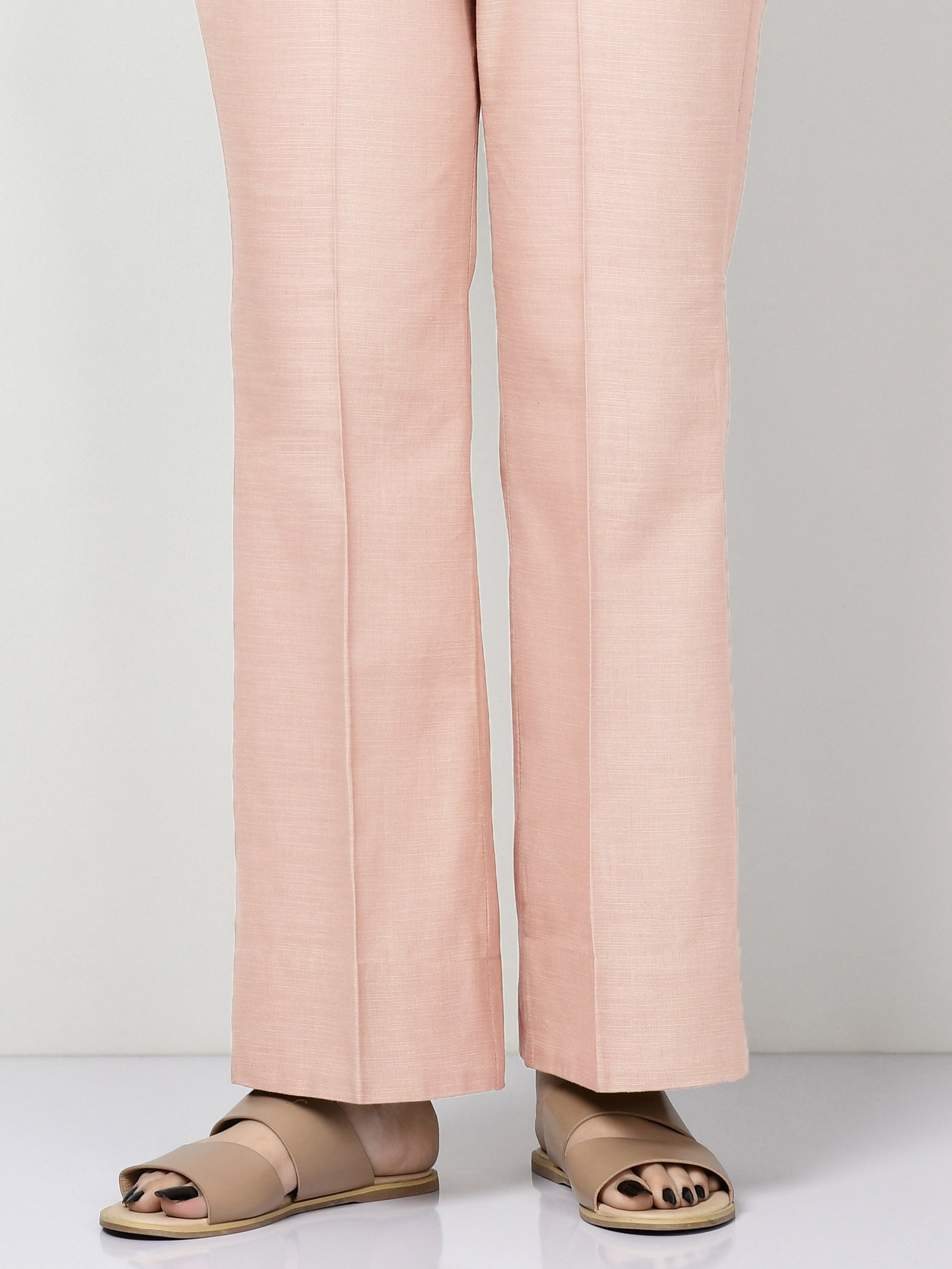 Unstitched Khaddar Trouser - Tea Pink