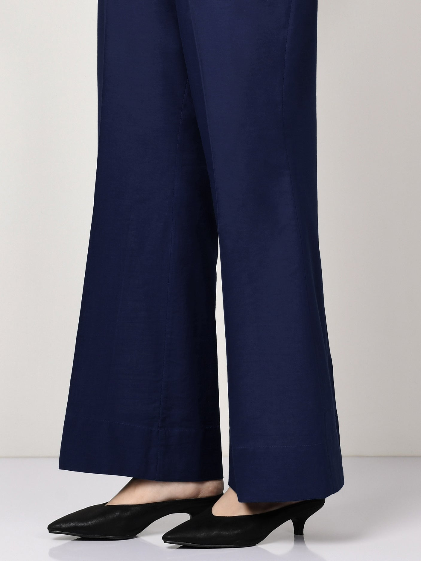 Unstitched Khaddar Trouser - Dark Blue