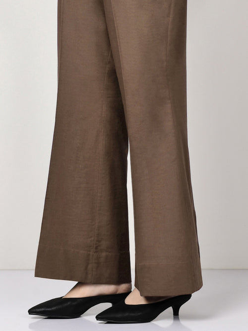 Khaddar Pants - Dark Brown