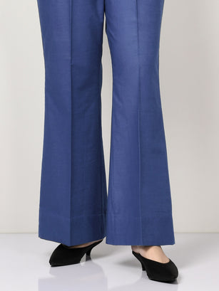 Khaddar Pants - Blue
