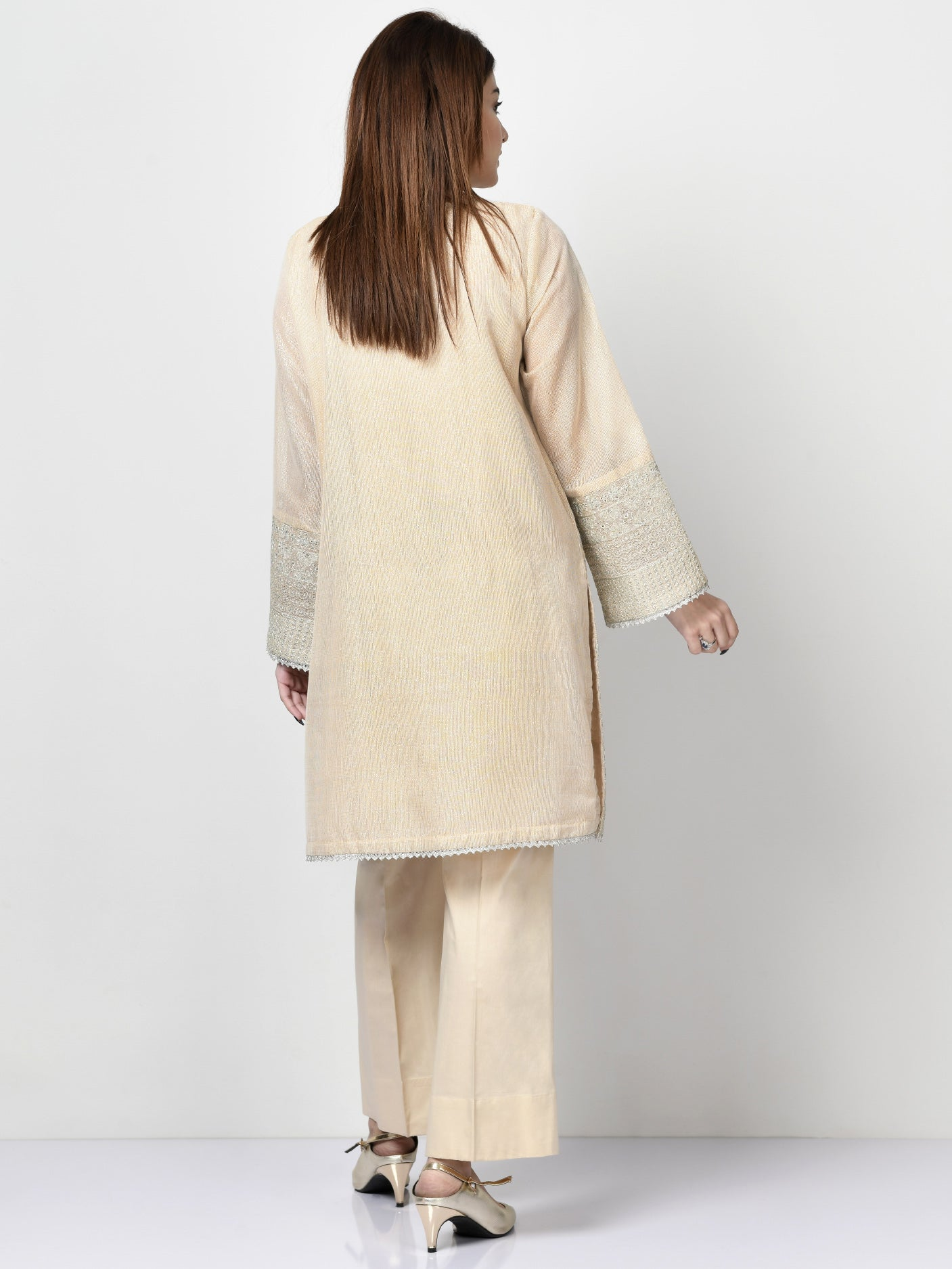 Embroidered Cotton Net Shirt