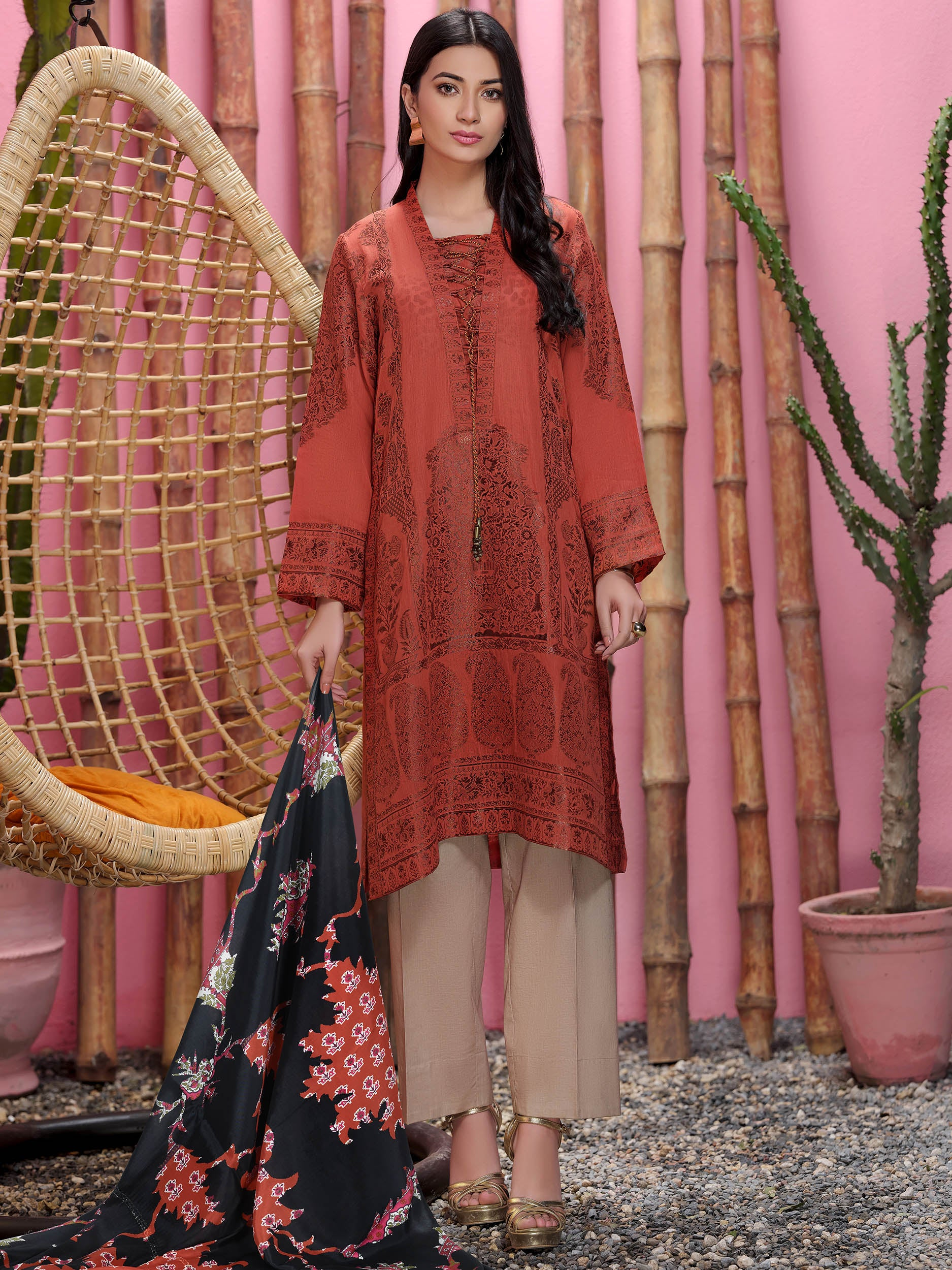 2-Pc Jacquard Suit