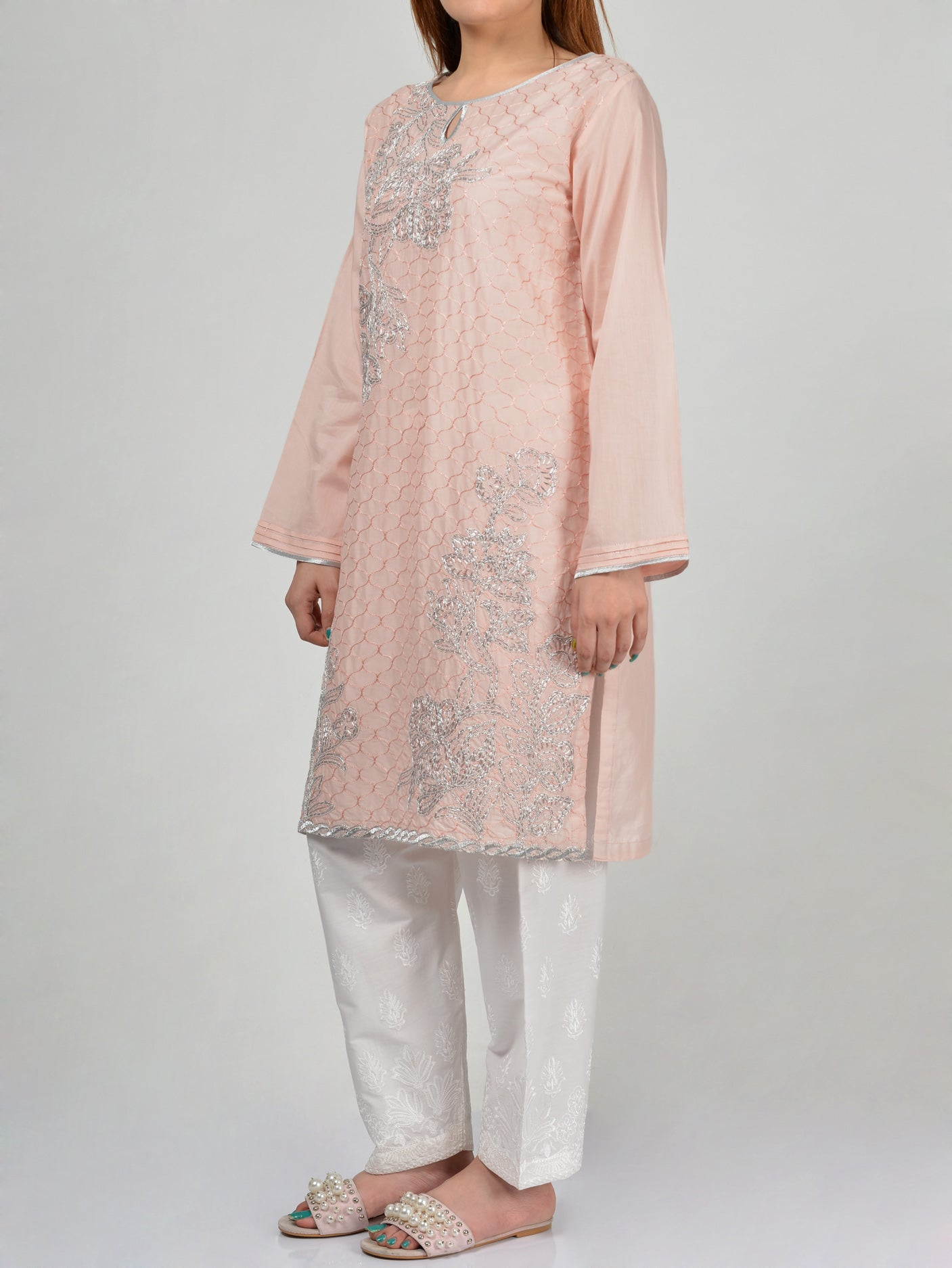 Pret Embroidered Lawn Shirt P0208 Online Limelight