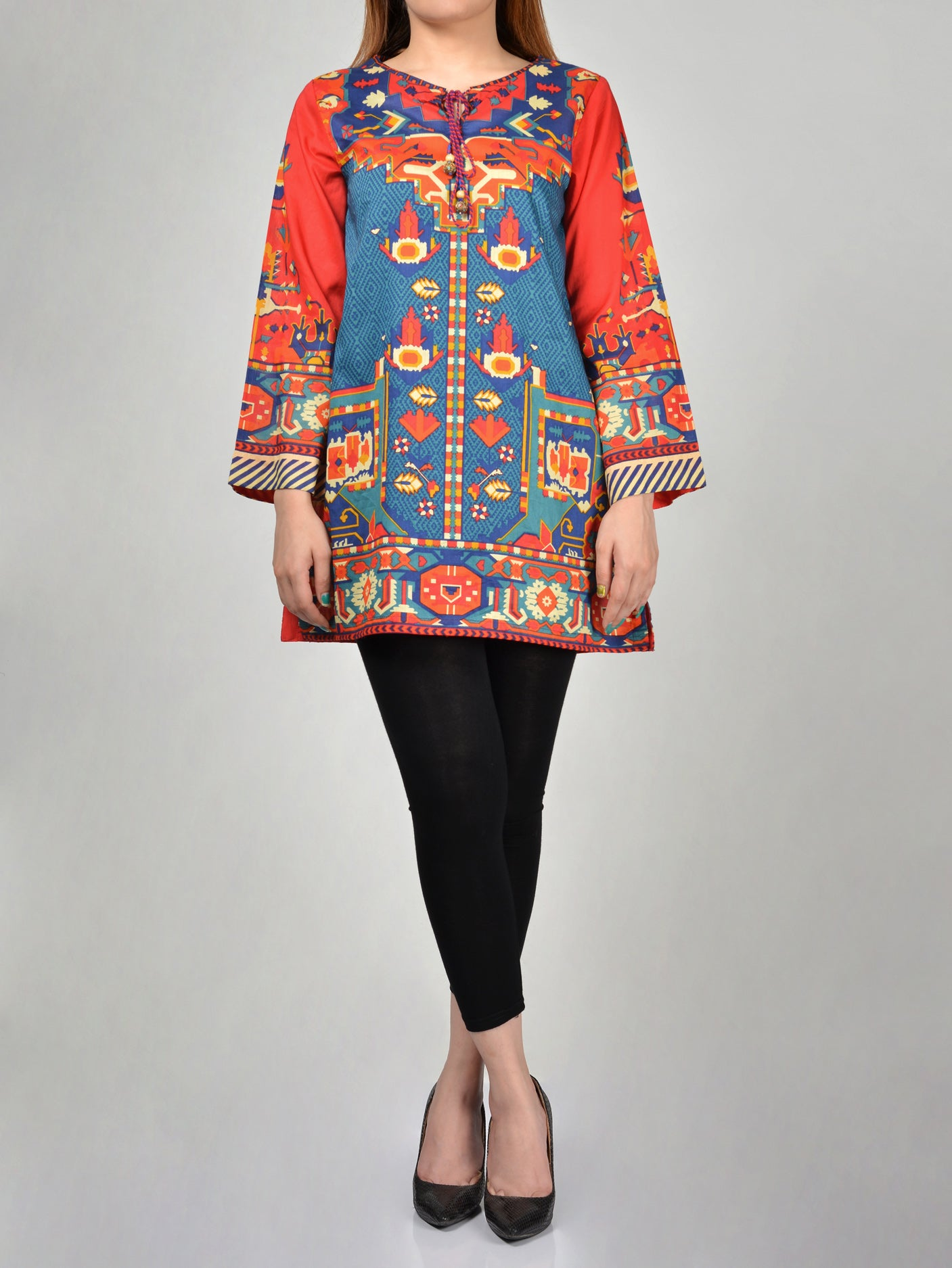 Printed Lawn Shirts Online P0177