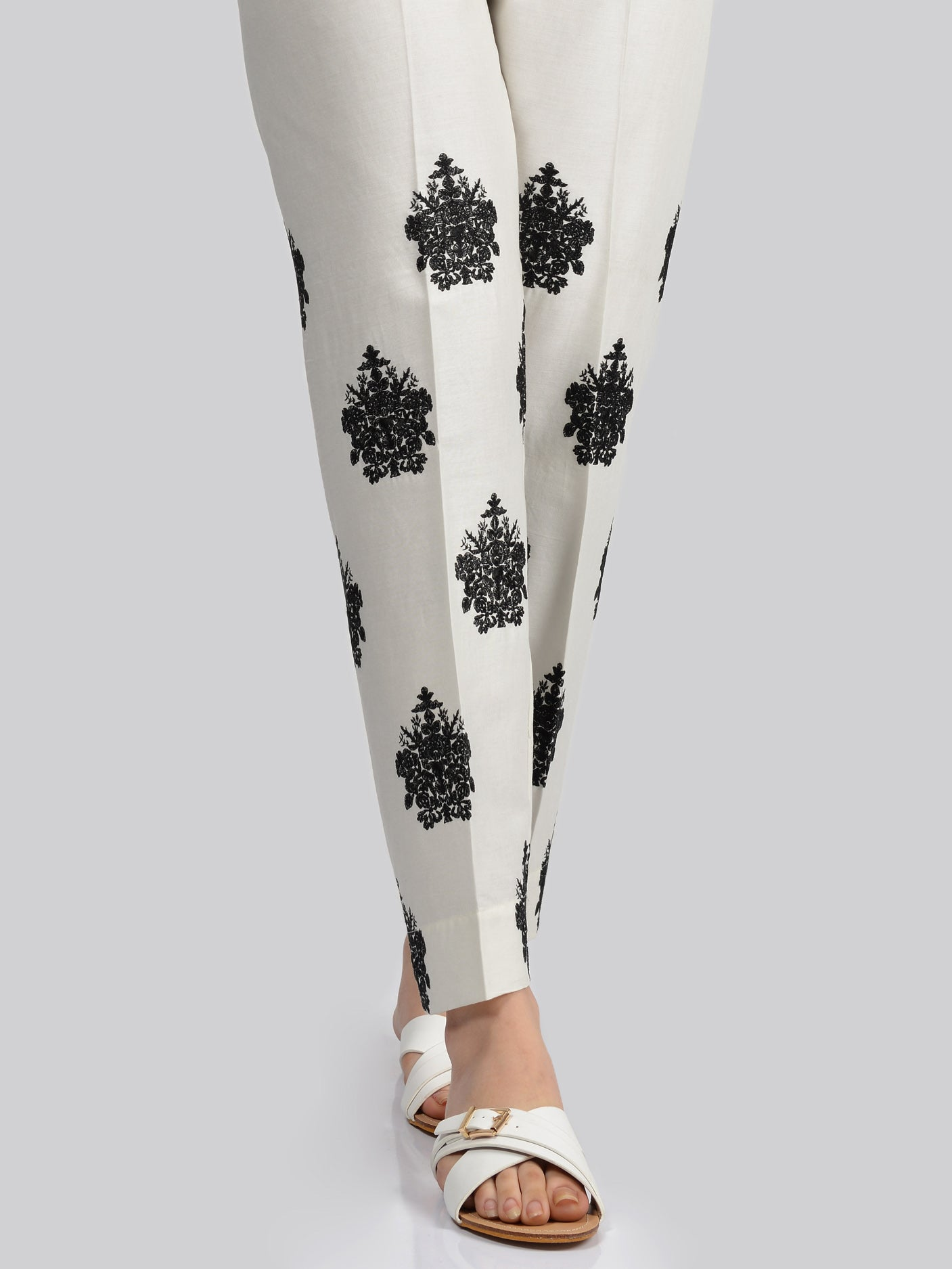 Embroidered Cotton Trouser