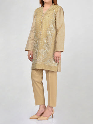 Limelight Pret Embroidered Jacquard Shirt F1724 Online in Pakistan | Limelight.pk