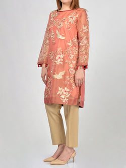 Embroidered Cotton-Net Shirt