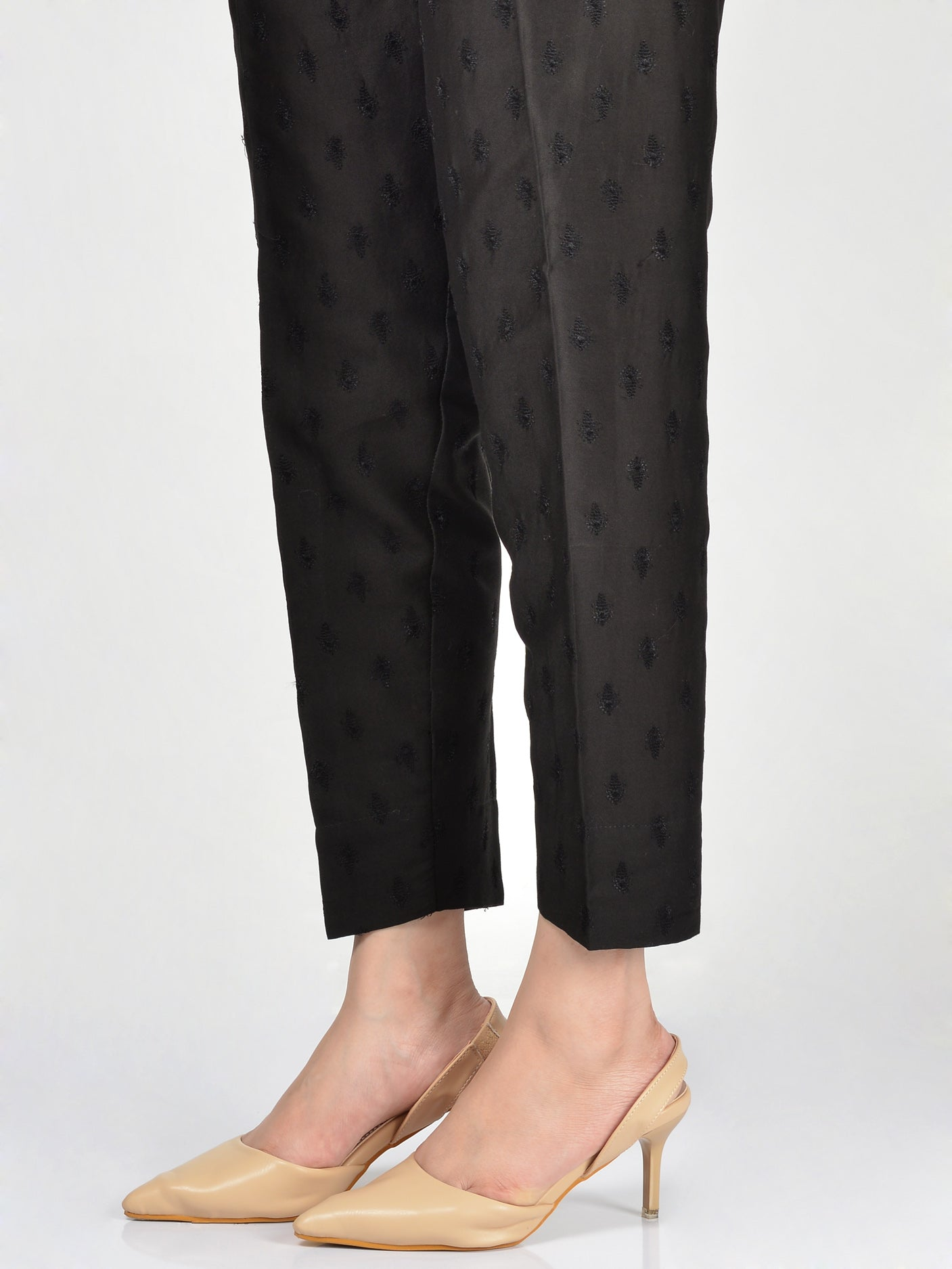 Embroidered Crepe Trouser