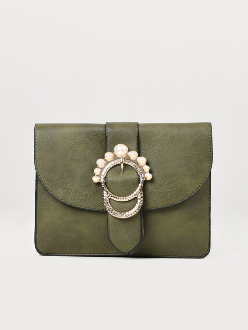 Pearl Buckled Bag