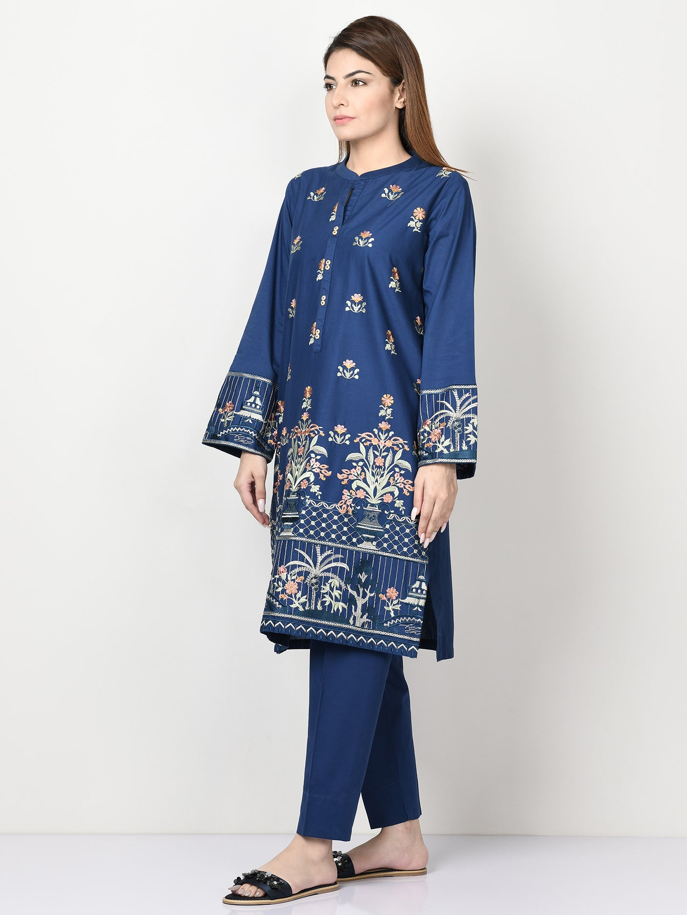 Embroidered Cambric Suit