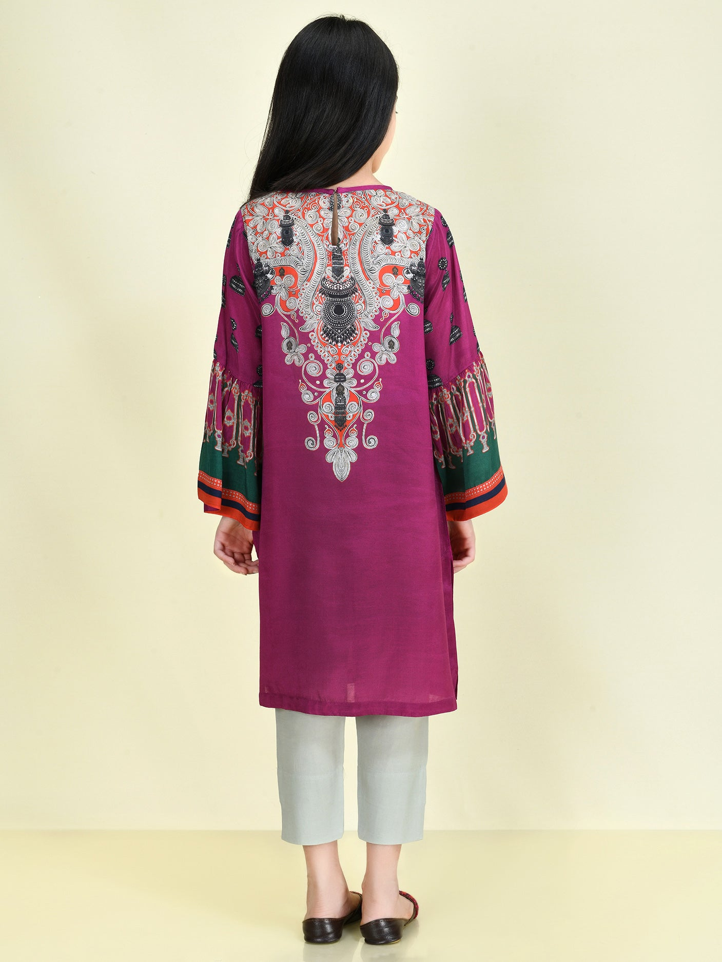 Embellished Thai Silk Suit