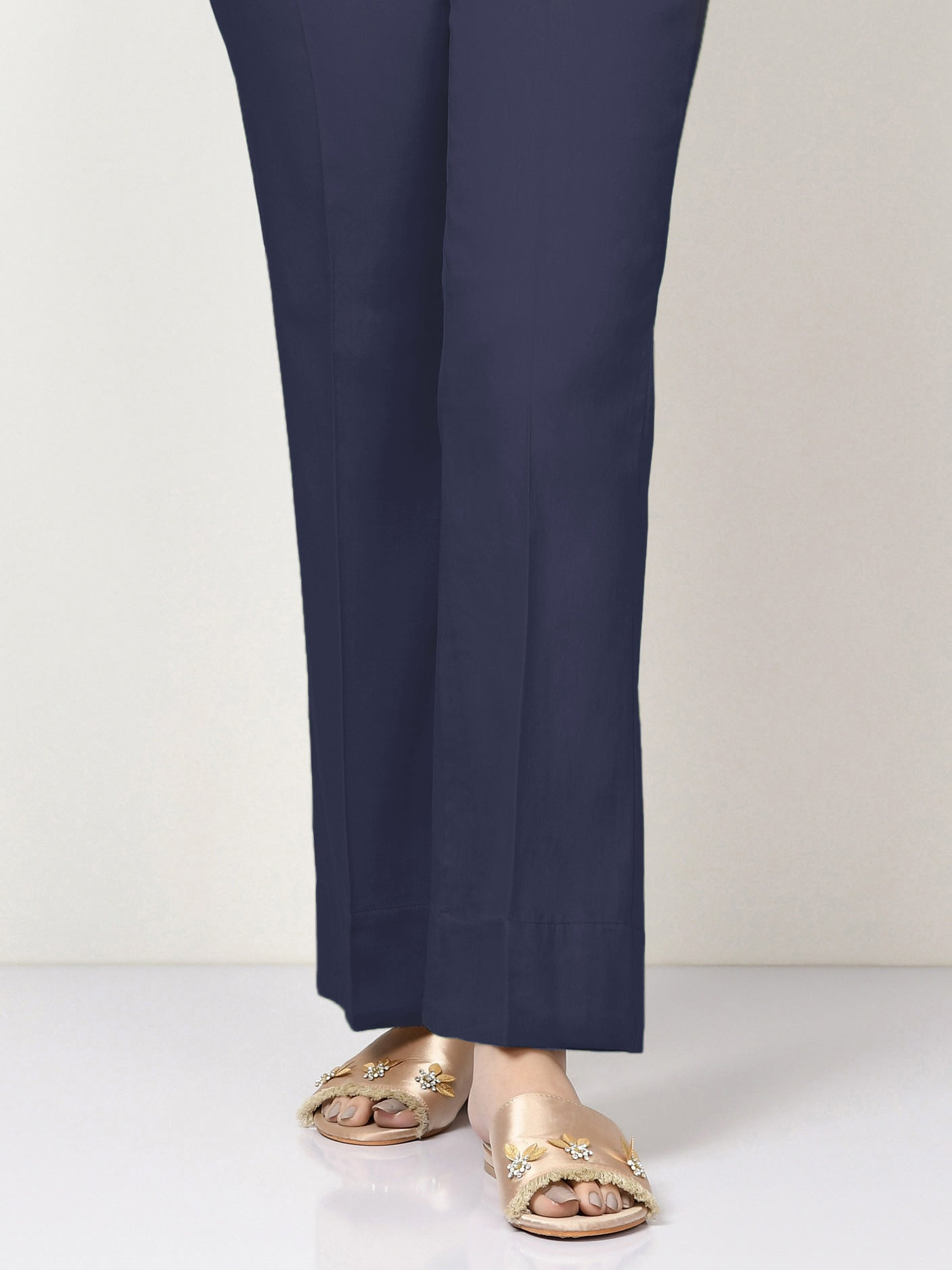 Unstitched Cambric Trouser - Blue