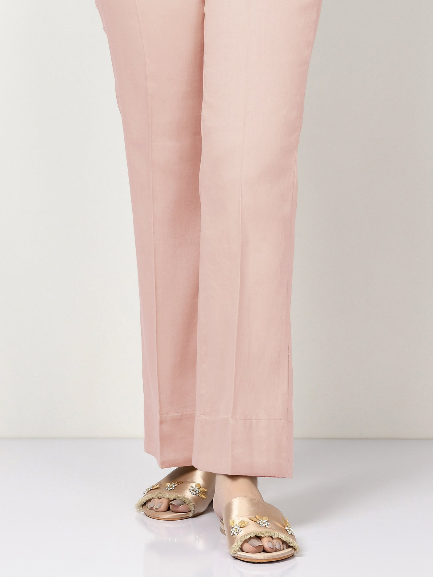 Unstitched Cambric Trouser - Light Pink