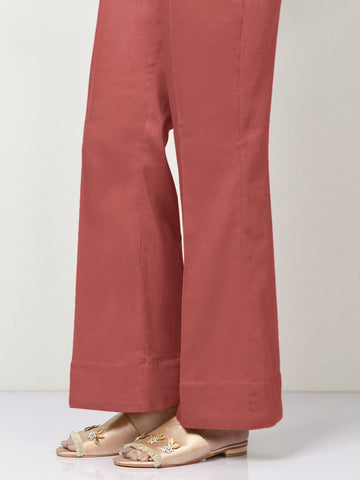 Unstitched Winter Cotton Trouser - Light Red