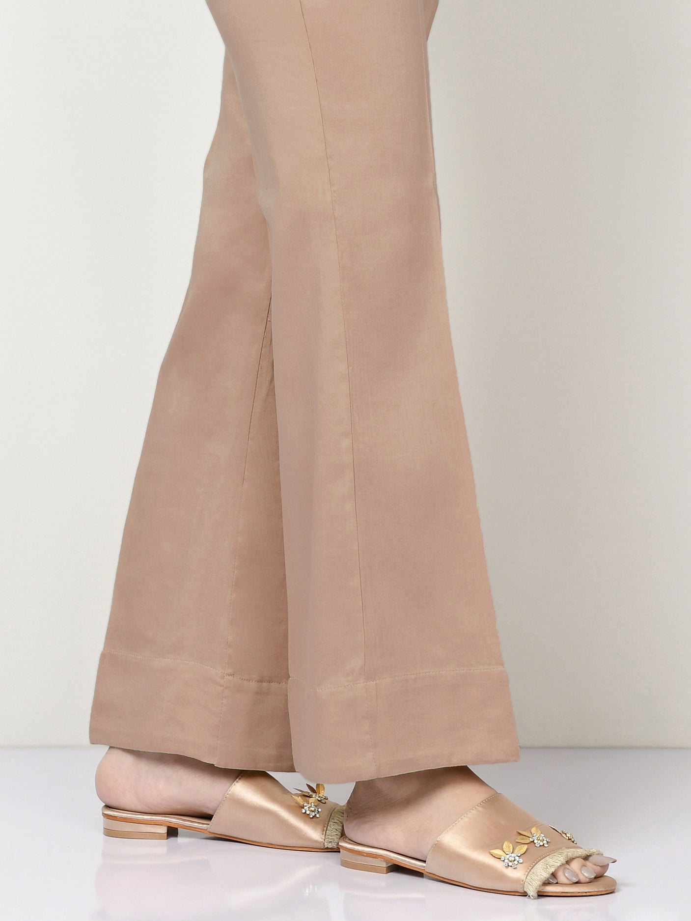 Unstitched Cambric Trouser -Peach