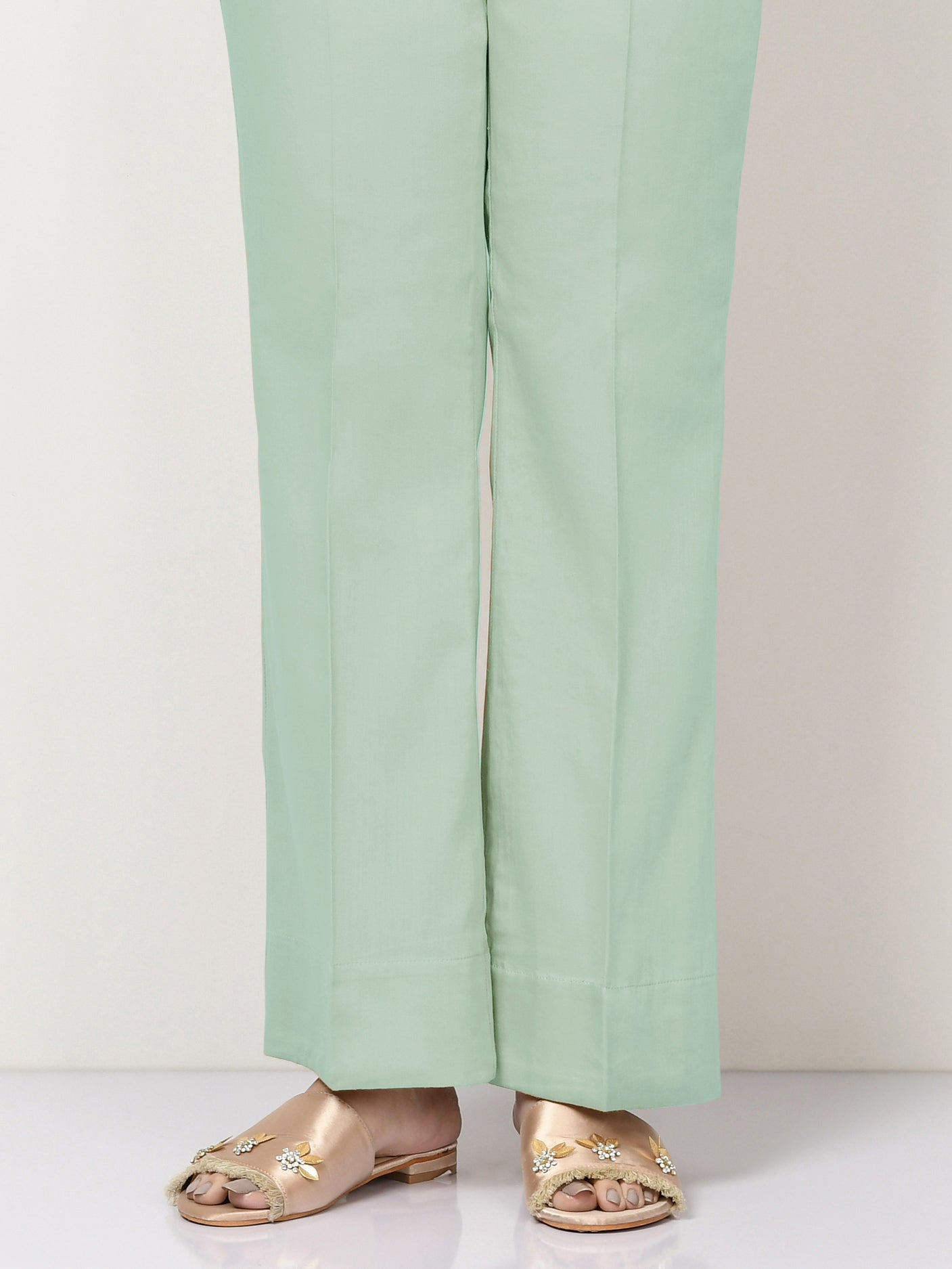 Unstitched Cambric Trouser - Mint