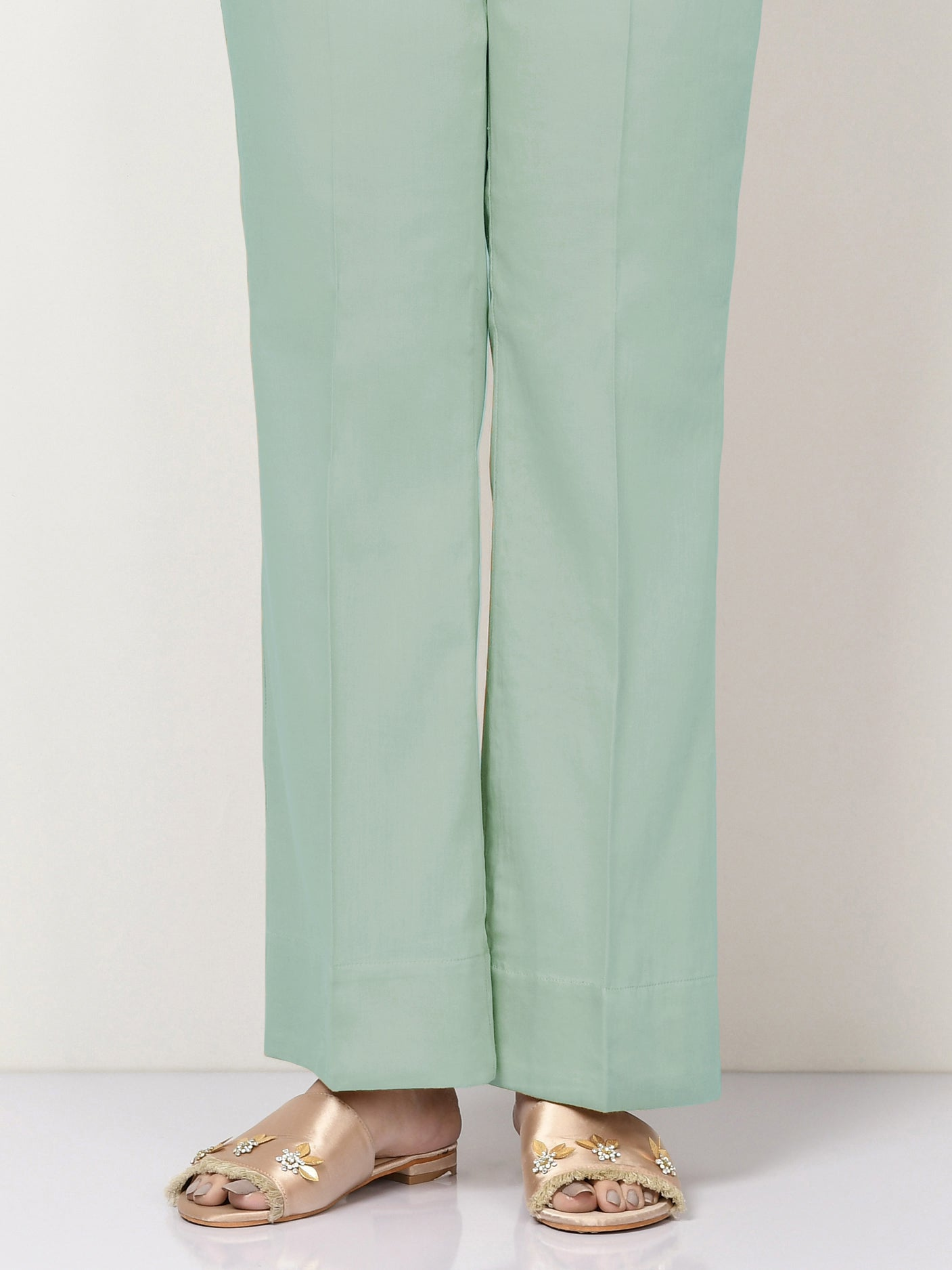 Unstitched Cambric Trouser - Ice Blue