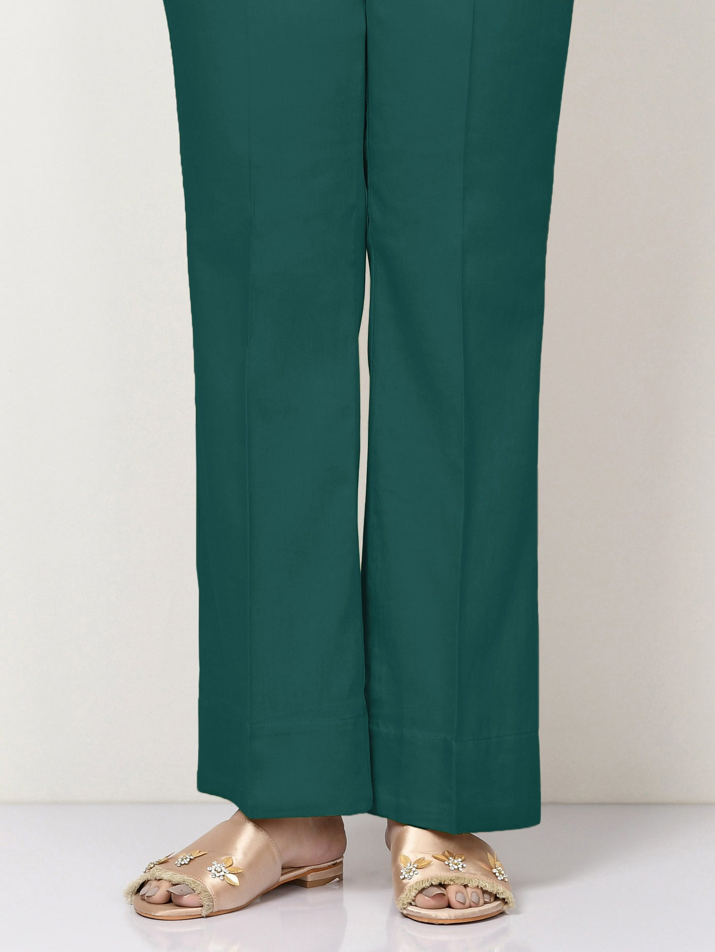 Unstitched Cambric Trouser - Teal Blue