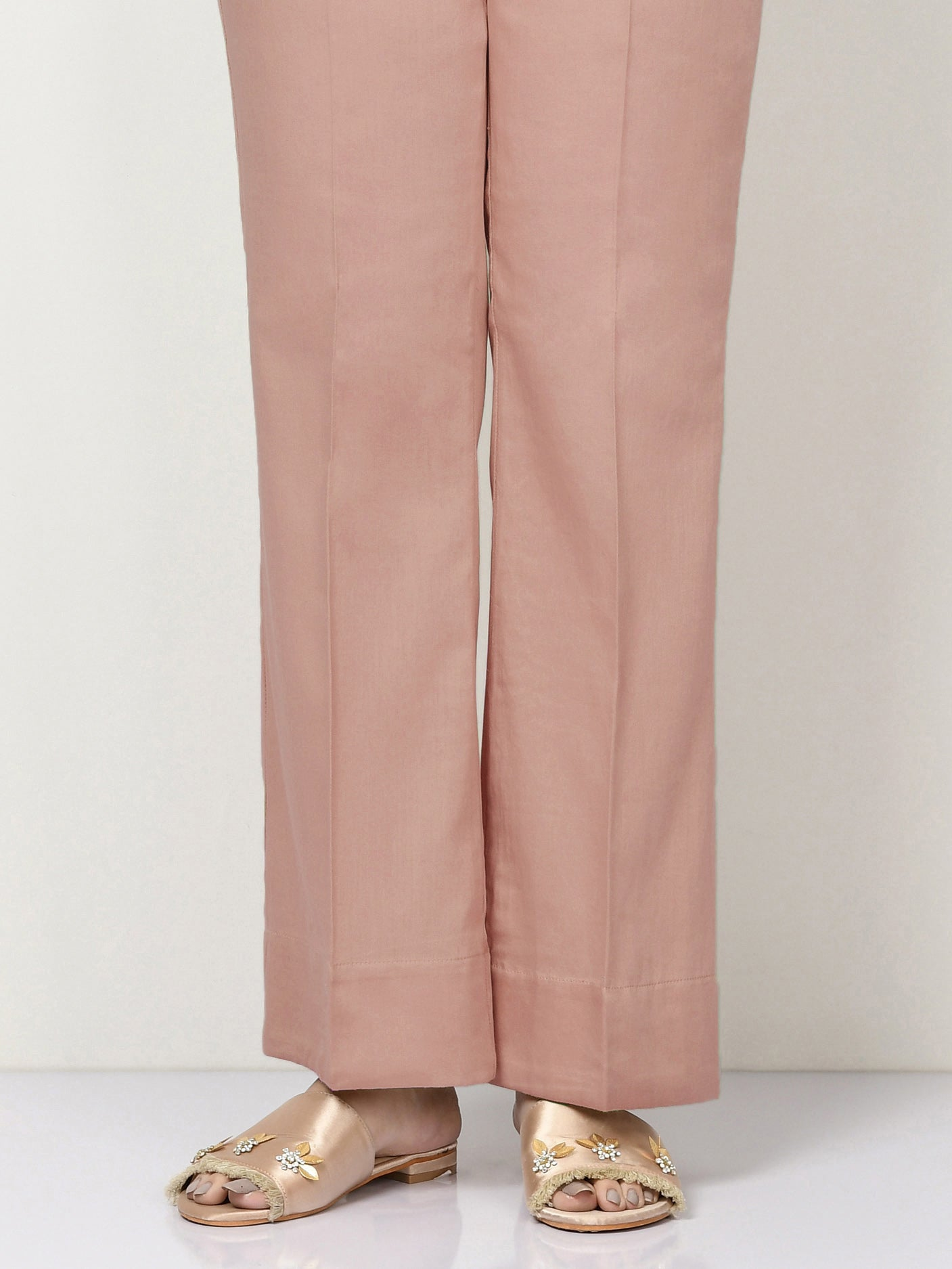 Unstitched Cambric Trouser - Tea Pink