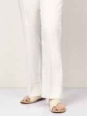 Unstitched Cambric Trouser - White