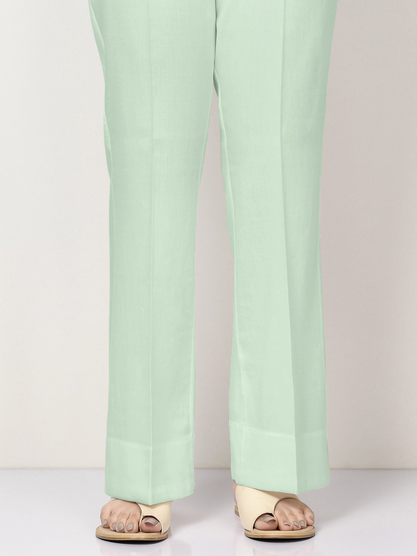 Unstitched Cambric Trouser -Mint