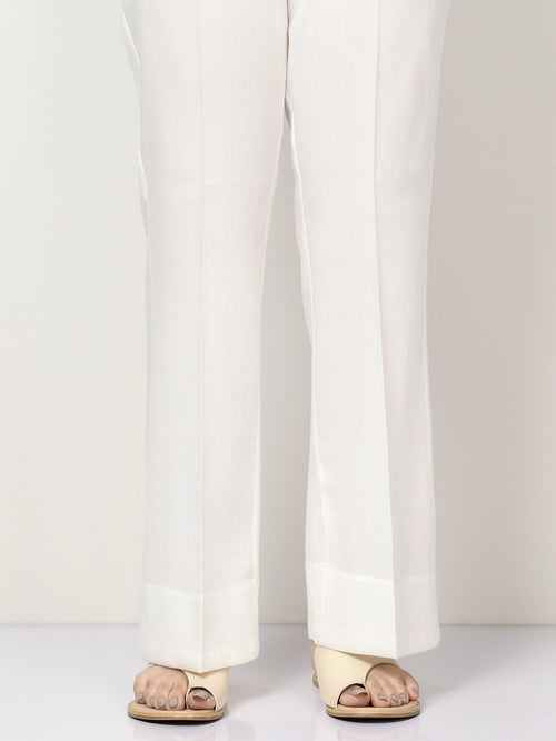 Winter Cotton Pants - White