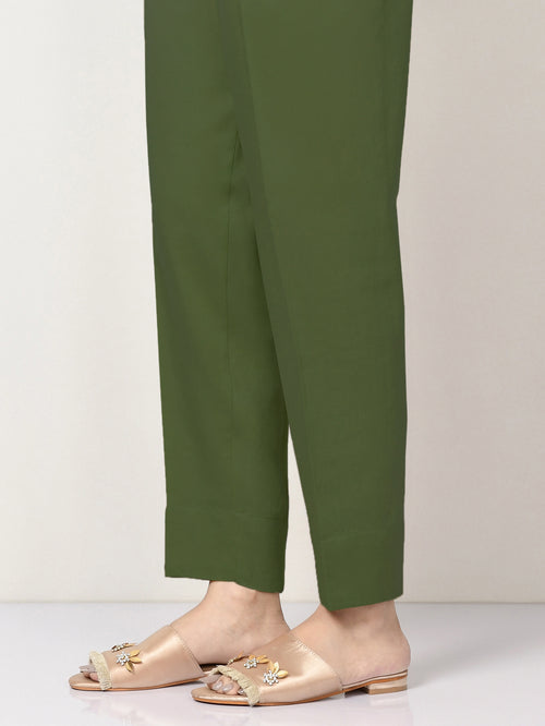 Winter Cotton Trouser - Army Green