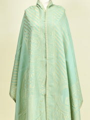 Jacquard Dupatta - Sea Green