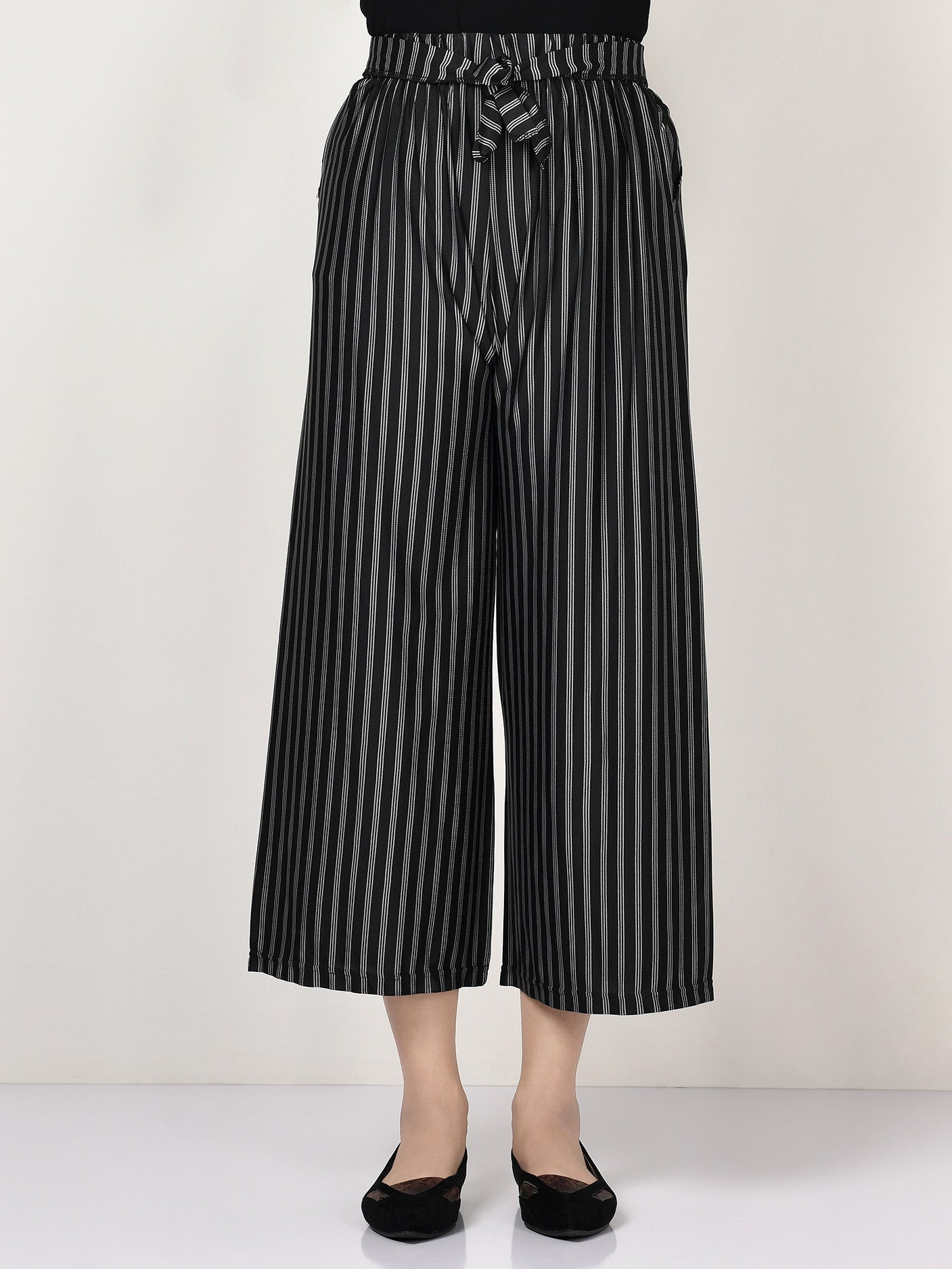 Striped Tie Knot Pants