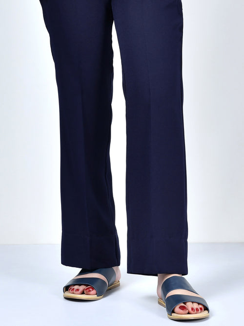 Straight Pants-Dark Navy