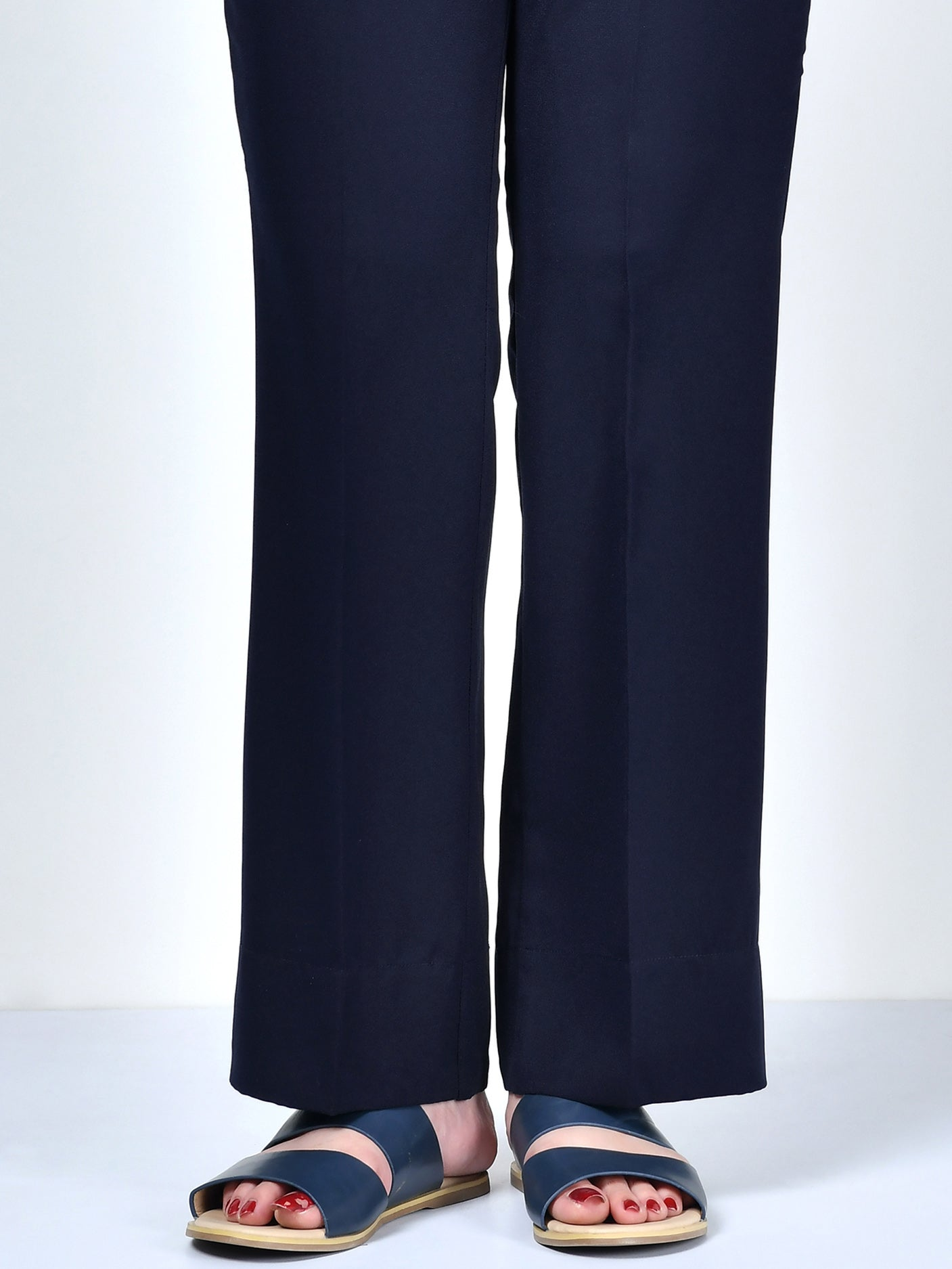 Winter Cotton Pants - Dark Navy