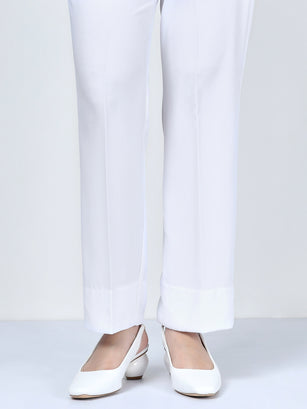 Straight Pants-White