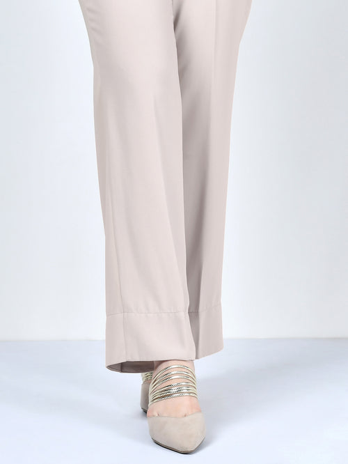 Bootcut Pants-Light Grey