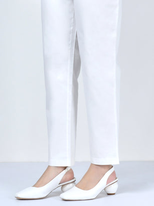 Pocketed Trouser-White