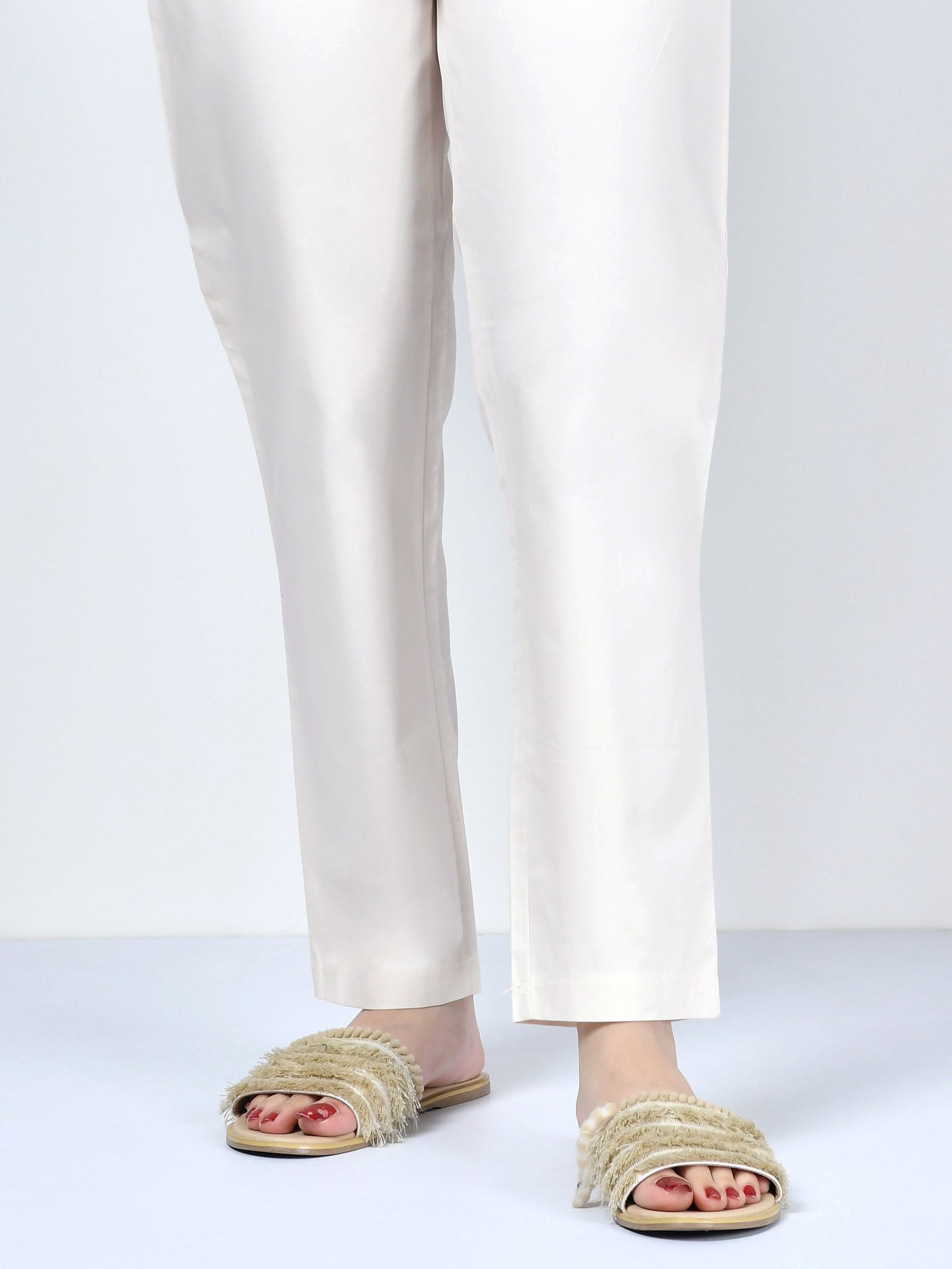 Pocketed Trouser-Cream
