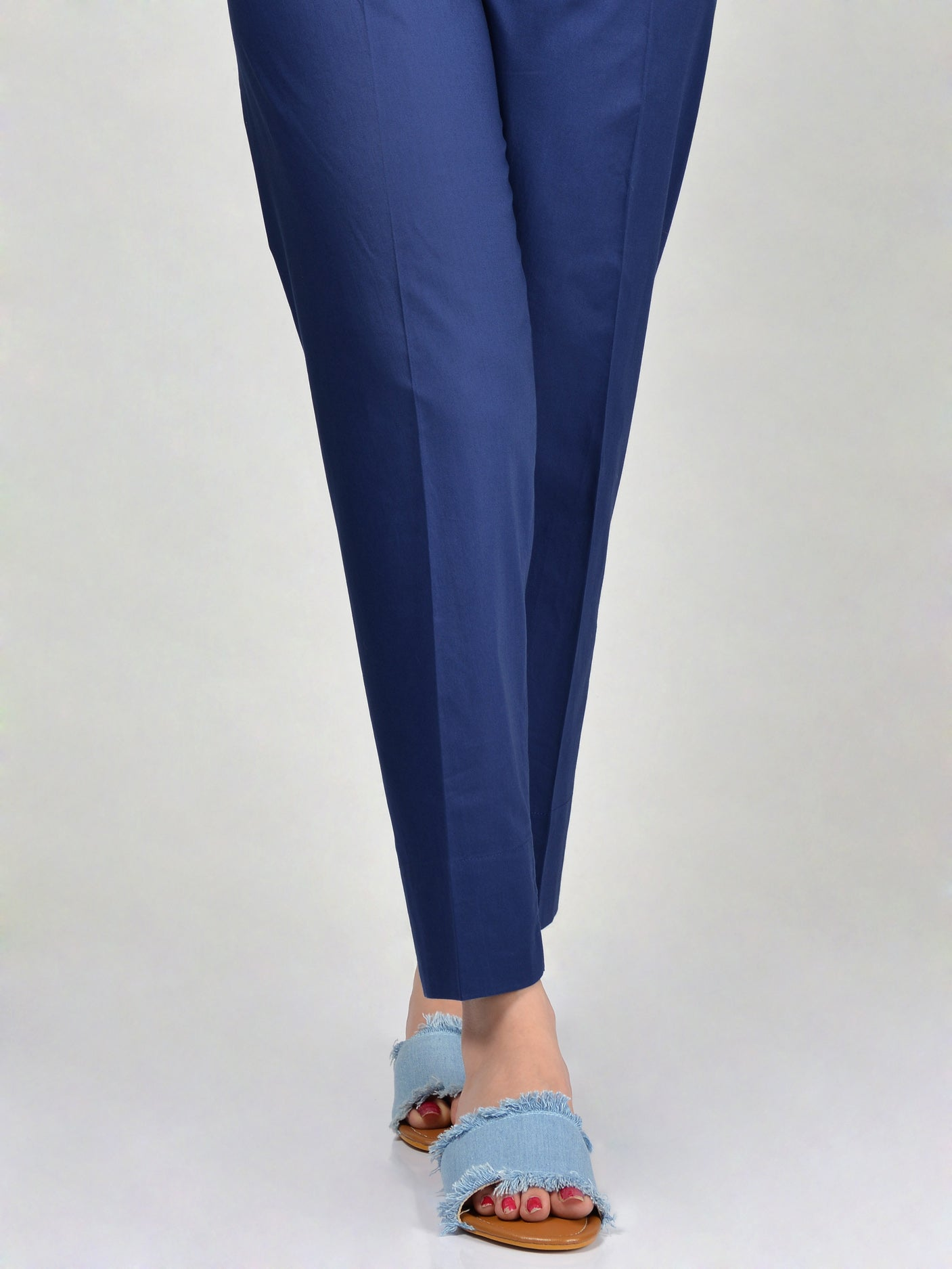 Straight Trouser-Deep Blue