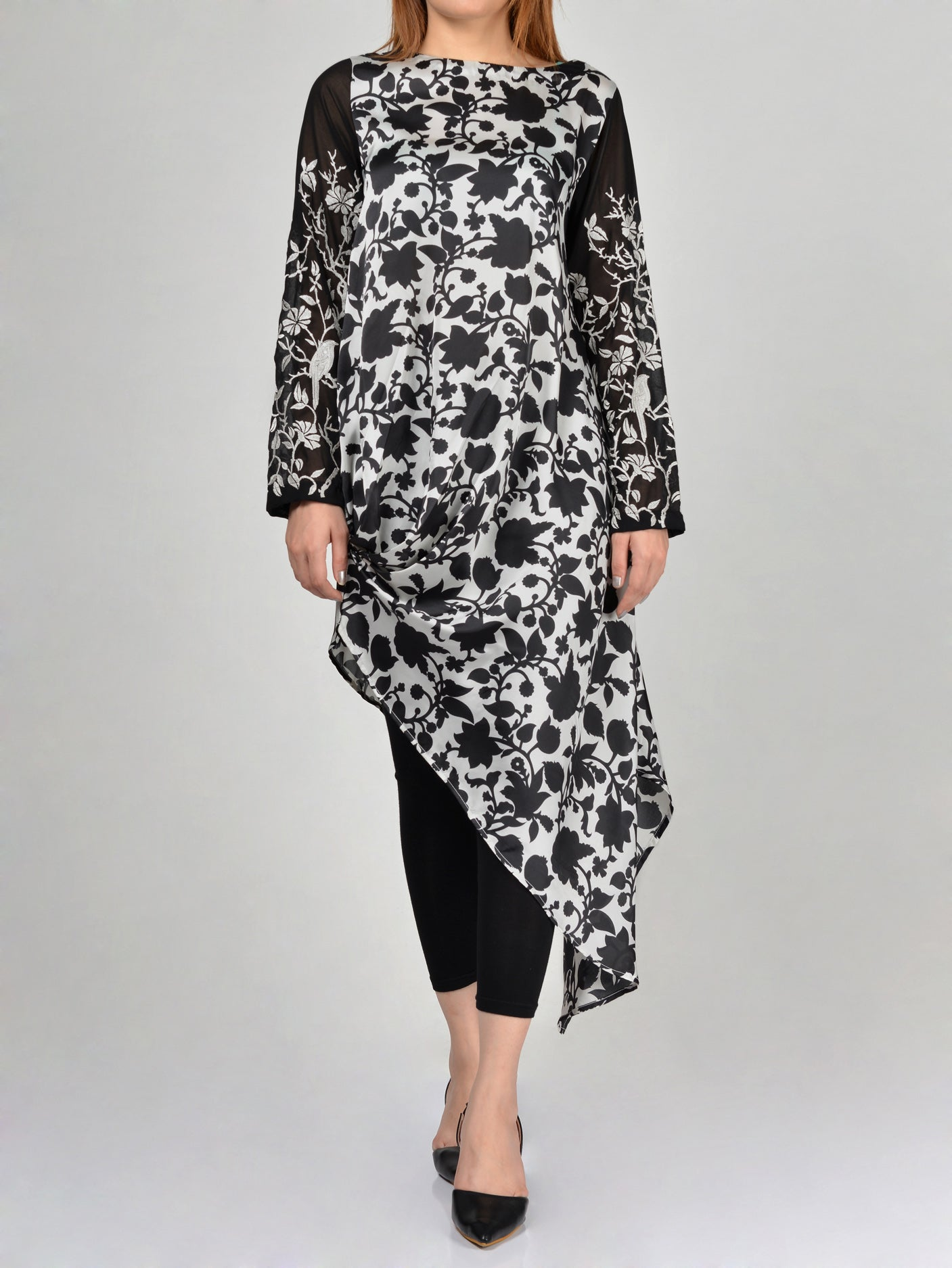 Embroidered Silk Shirt By Limelight F0388 Online in Pakistan | Limelight.pk