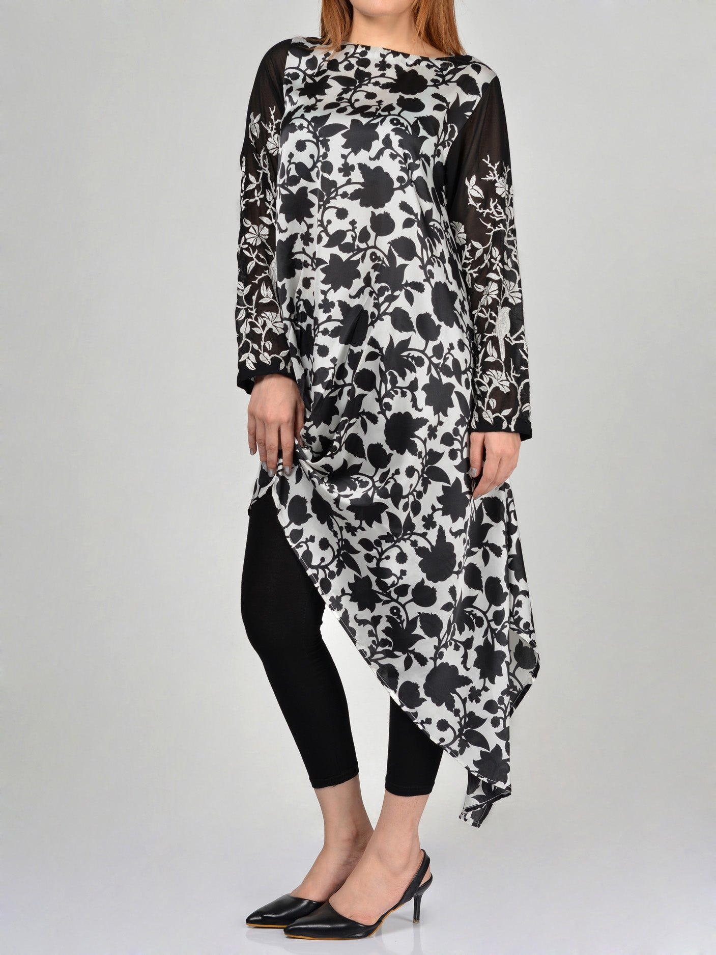 Limelight Embroidered Silk Shirt F0388 Online in Pakistan | Limelight.pk