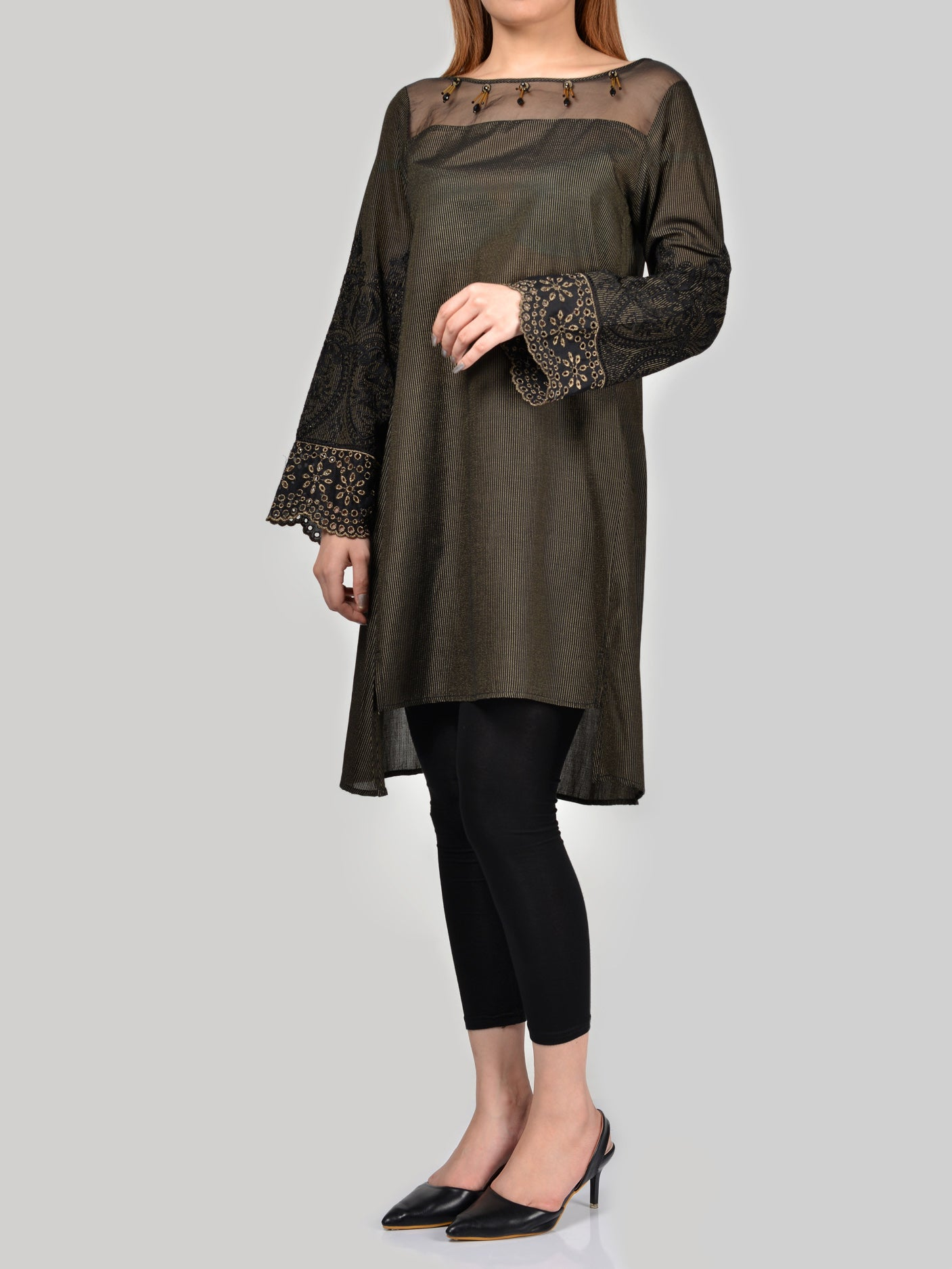 Limelight Embellished Lawn Shirt P0140 Online in Pakistan | Limelight.pk