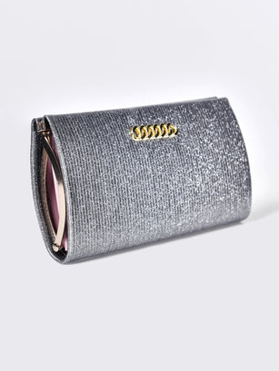 Sparkly Clasp Wallet