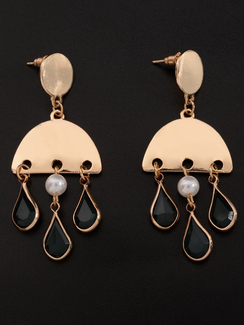 Semi Circular Drop Earrings