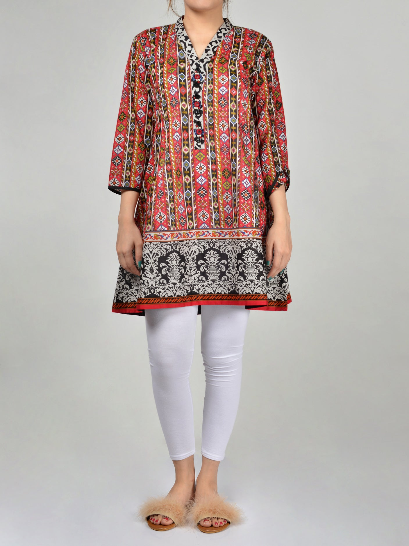 Buy Printed Frock P0160 Online in Pakistan | Limelight.pk