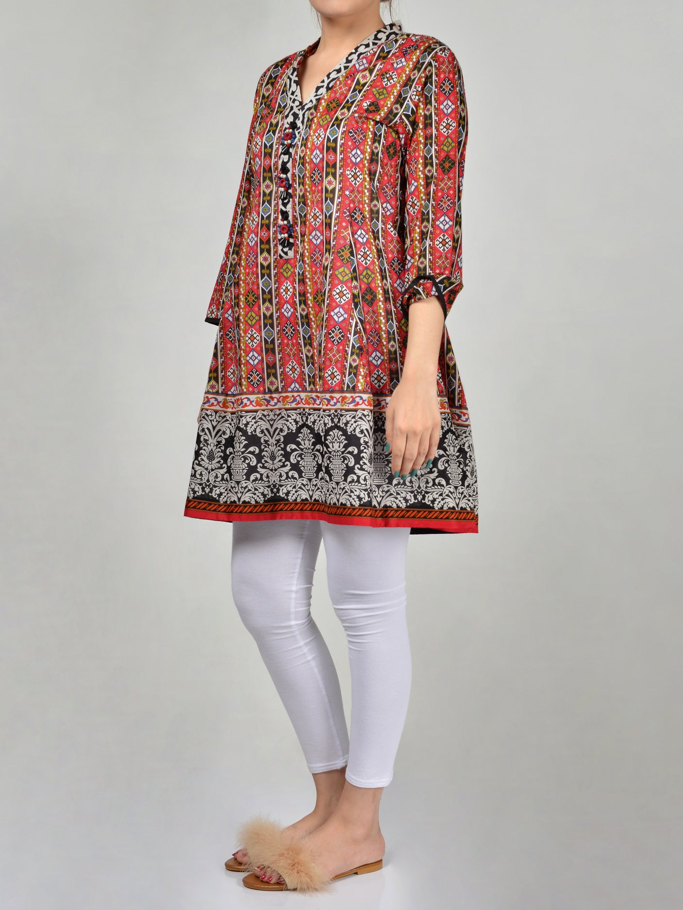 Limelight Printed Lawn Frock P0160 Online in Pakistan | Limelight.pk