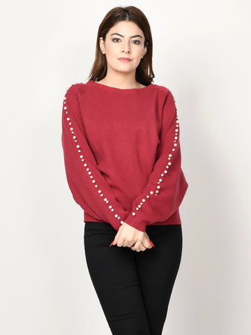Diamante Embellished Sweater