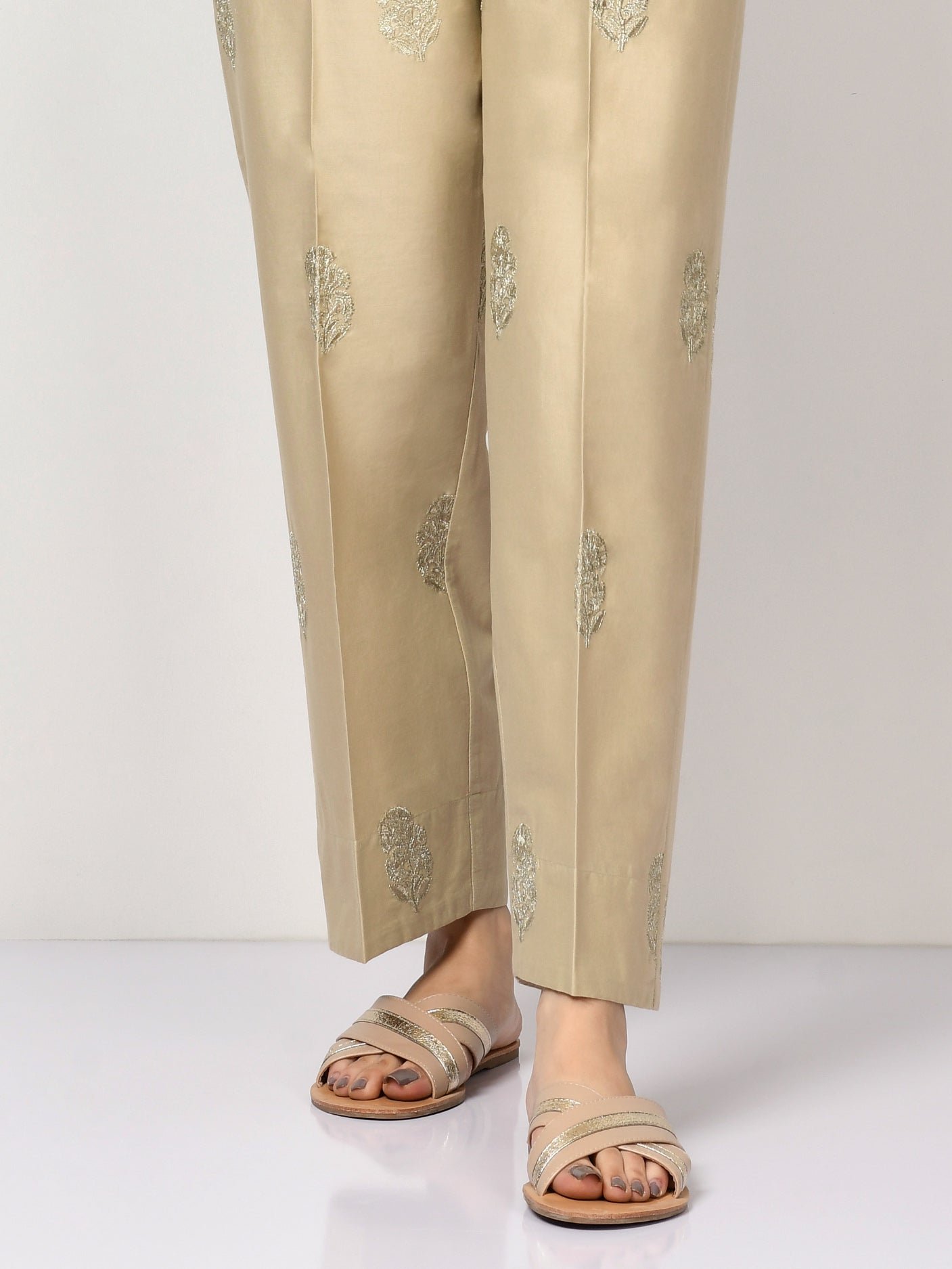 Embroidered Winter Cotton Pants
